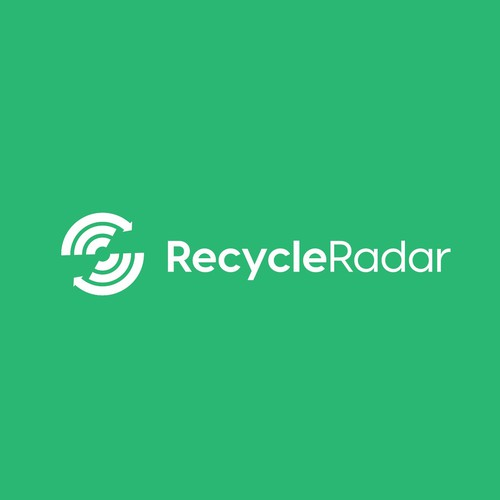 Radar logo with the title 'Clever and Simple concept for RecycleRadar'