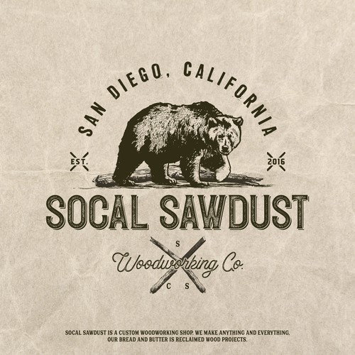 Bear brand with the title 'Socal Sawdust Logo'
