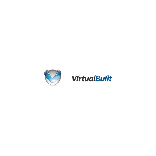 Glossy design with the title 'Create the next logo for Virtual Built'