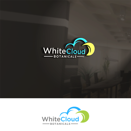 Botanical brand with the title 'white cloud'