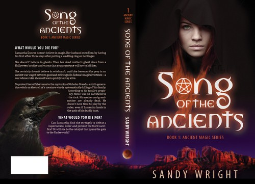 Supernatural design with the title 'Song of the Ancients book cover'