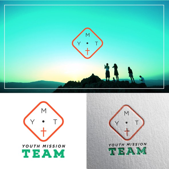 Youth group logo with the title 'Youthful/Trendy Concept for Teen Religious Group '
