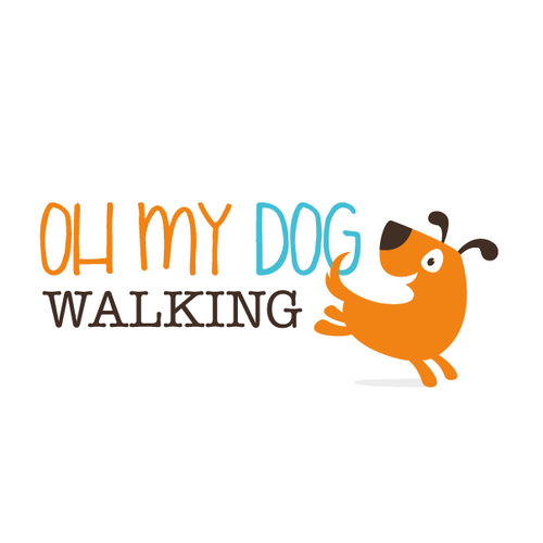 Pictogram logo with the title 'Cute dog logo'