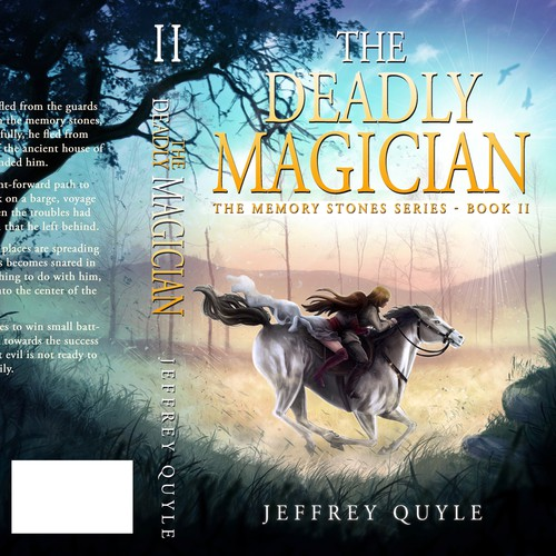 Art book cover with the title 'The Deadly Magician '