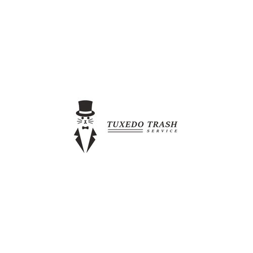 Cleaning company logo with the title 'Tuxedo Trash Services'