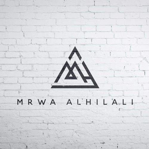 3D triangle logo with the title 'mrwa alhilali logo'