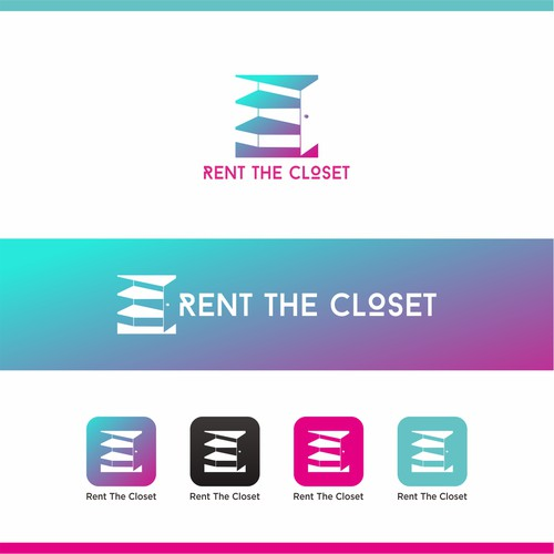 Closet logo with the title 'Rent The Closet App Logo '