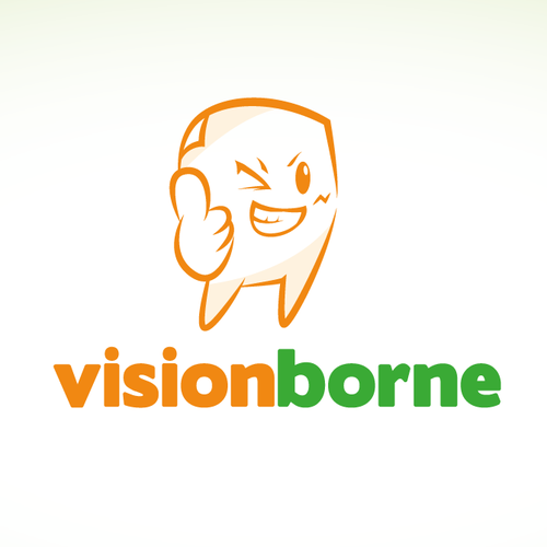 Manga logo with the title 'Help Visionborne with a new logo'