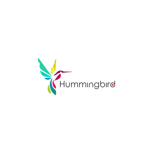 Sushi bar logo with the title 'Hummingbird Sushi logo concept'