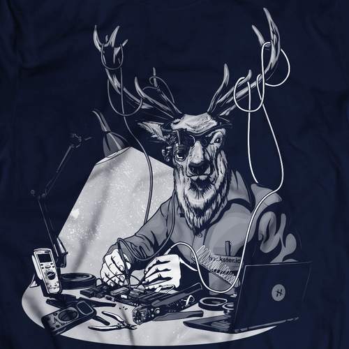 Wild design with the title 'Noble Deer Electrician'