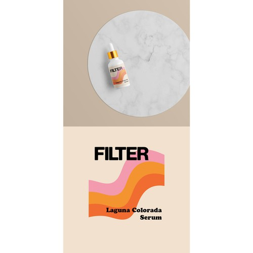 Color label with the title 'Filter Serum'