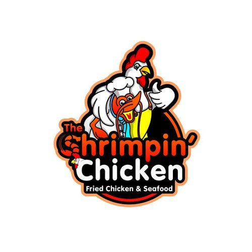 Shrimp logo with the title 'Mascot for Chicken and Shrimpin?'