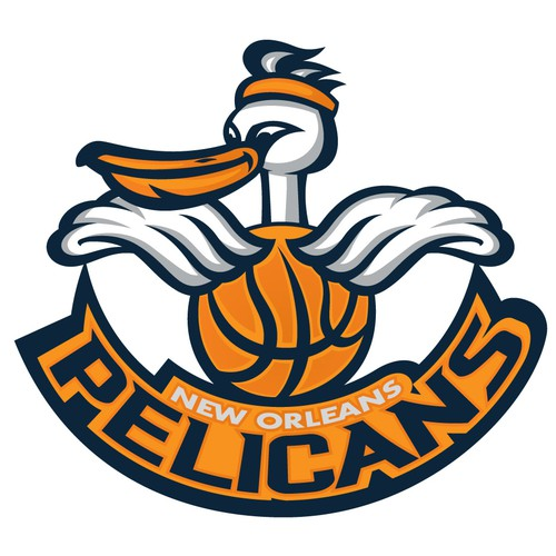 NBA design with the title '99designs community contest: Help brand the New Orleans Pelicans!!'