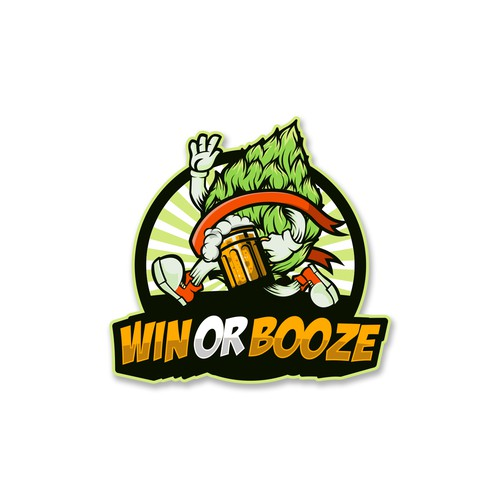 Win logo with the title 'Win or Booze'