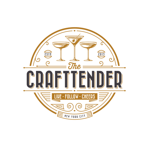 Nightclub logo with the title 'The Crafttender'