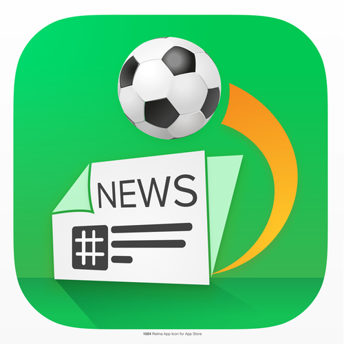 Android design with the title 'Sport News app'