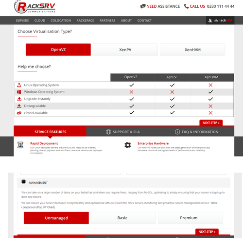 Red website with the title 'Order Form UI Redesign'