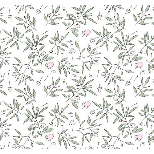 Cotton design with the title 'Floral pattern'