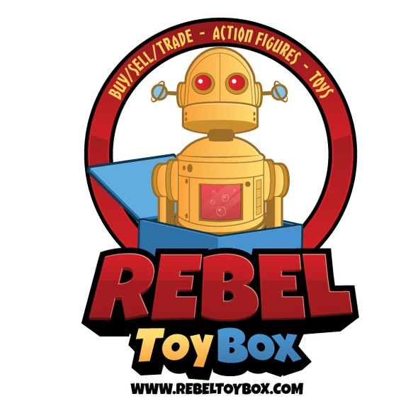Toy logo with the title 'Rebel Toy Box'