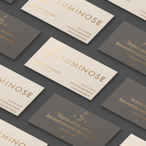 Delicate design with the title 'Logo & Business Card Design for Luminose'