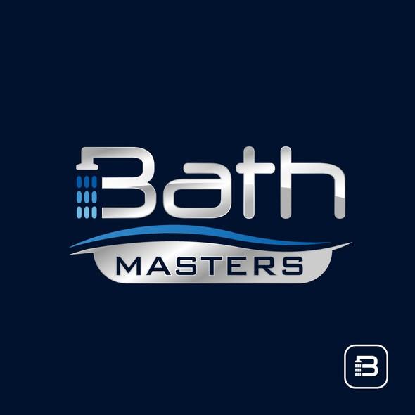 Bathtub logo with the title 'Bath Logo Design'