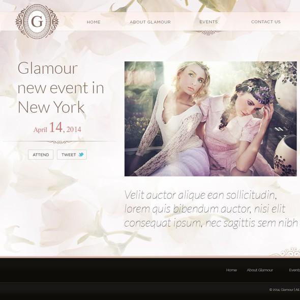 Premium website with the title 'ELEGANT WINE website design'