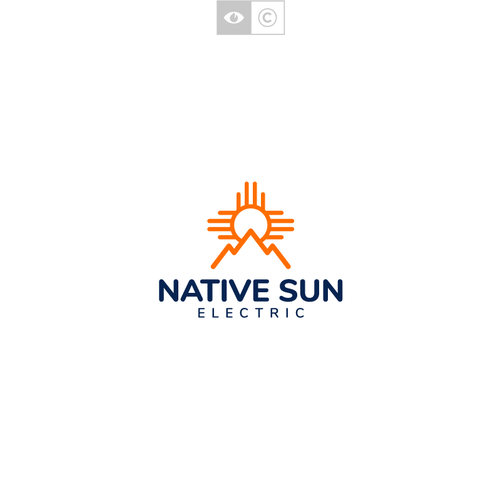 American Indian logo with the title 'Native Sun Electric'