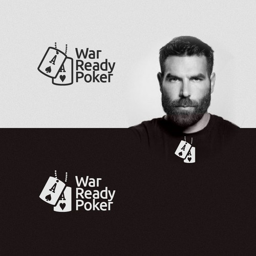 War logo with the title 'Professional Poker-Player Sponsorship Company looking for Identifiable Brand Image'