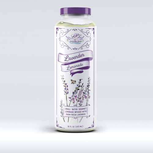 Lemonade design with the title 'Lavender lemonade'