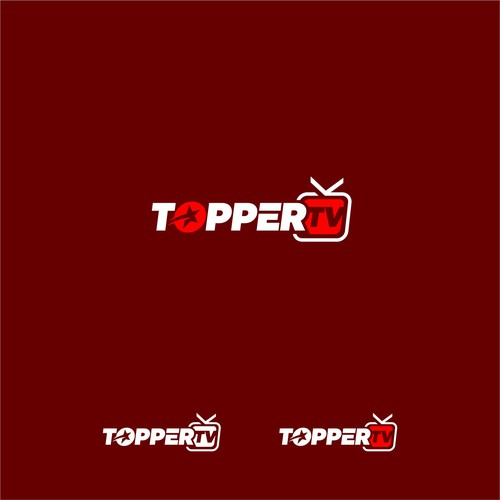 Streaming logo with the title 'Topper tv'
