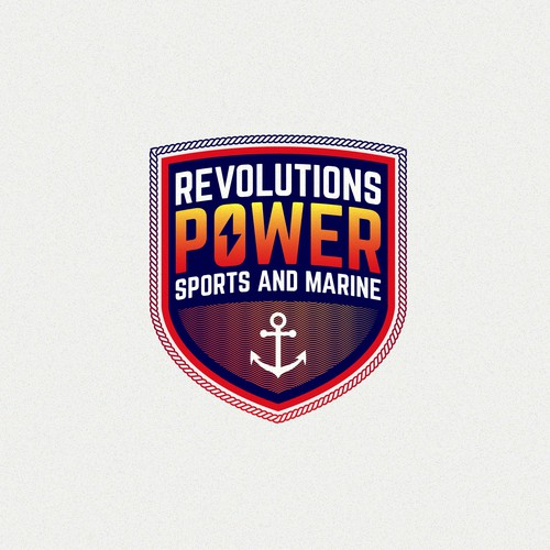 Marine brand with the title 'Revolutions Power Sports and Marine'
