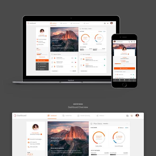 Portal website with the title 'Insurance Company Portal Design'