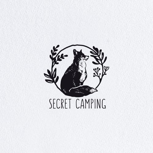 Wildlife design with the title 'Wild Glamping Experience in the English Lake District needs an iconic/ hipster/maybe handrawn design'