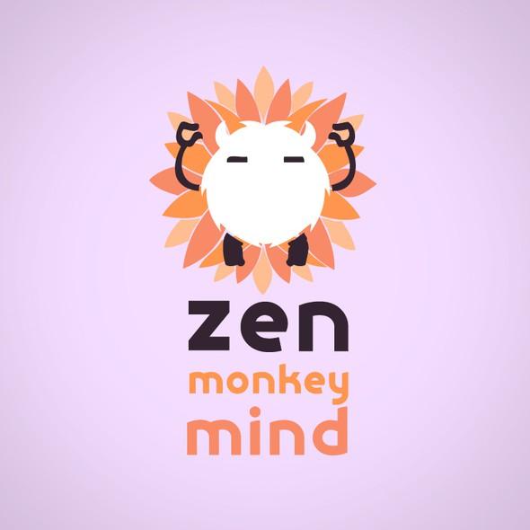 Third eye design with the title 'Zen Monkey Mind logo'