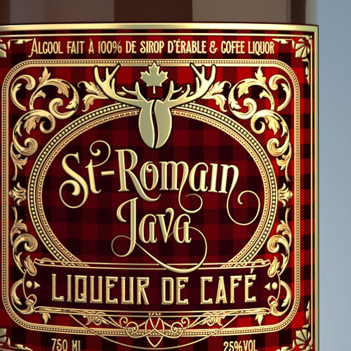 Liquor label with the title 'Coffee is cool, alcohol too... why not combine'