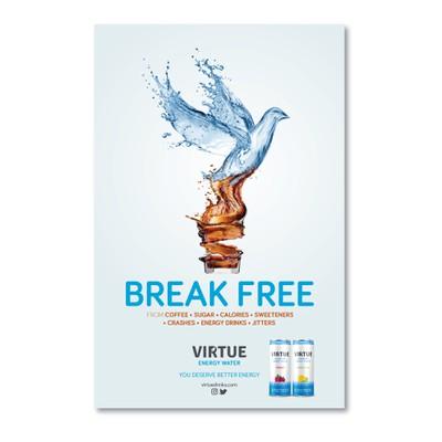 Subway billboard campaign - Virtue Energy Water