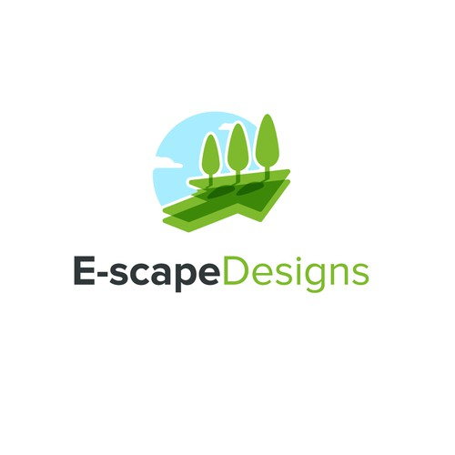 Sky design with the title 'Online Landscaping'