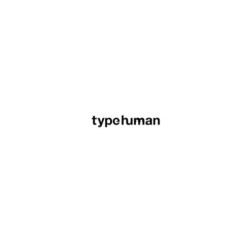 Human brand with the title 'Logo TypeHuman'