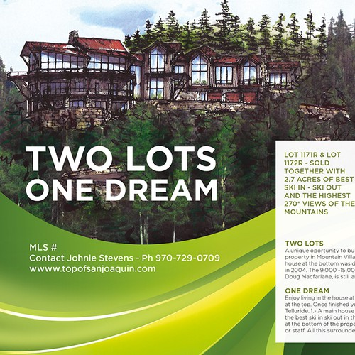 Print ad design with the title 'Print ad for real estate agency'