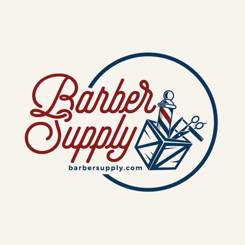 Barbershop logo with the title 'BarberSupply.com - Simple Barber Logo Needed!'