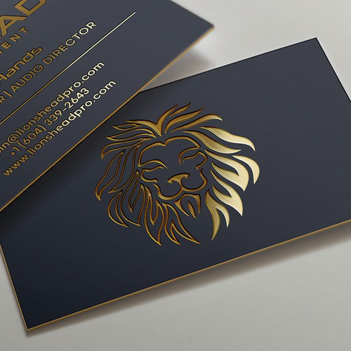 Lion design with the title 'Business card design'