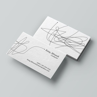 Business card for a Music Conductor