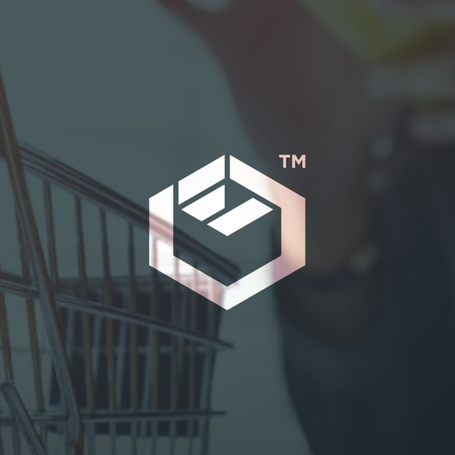 Packet design with the title 'Logo concept for an online shopping platform'