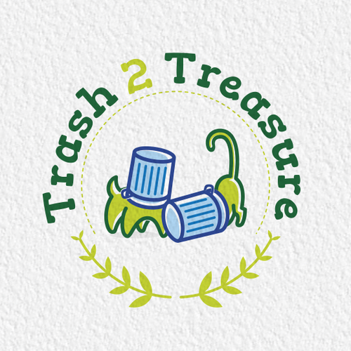 Treats design with the title 'Logo design for Trash 2 Treasure'