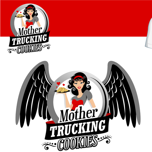 Truck logo with the title 'create a logo for Mother Trucking Cookies'