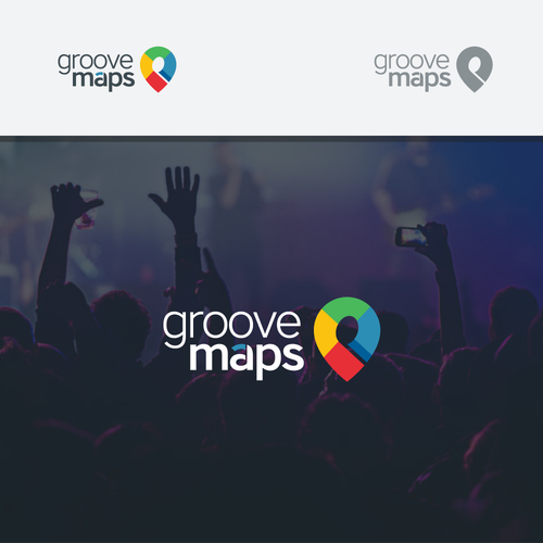 Music note logo with the title 'GrooveMaps'