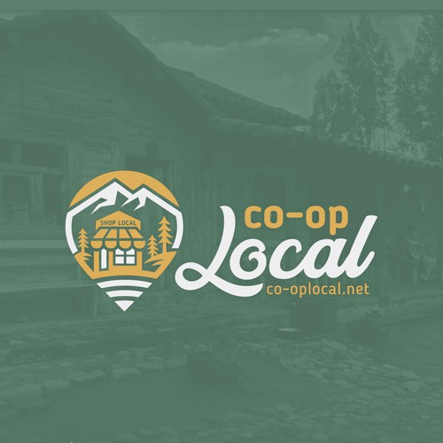 Location design with the title 'co-op Local logo'