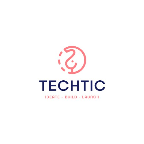 Launch design with the title 'Techtic Logo'