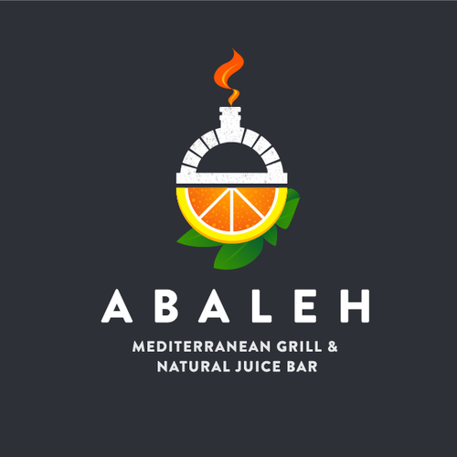 Mediterranean design with the title 'Logo for a unique Juice Bar/Grill restaurant  in Central Manhattan'