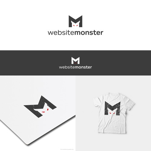Monster logo with the title 'Simple logo for website company'